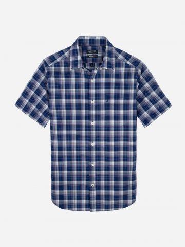 חולצה מכופתרת בהדפס משבצות / גברים של NAUTICA