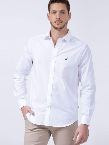 חולצה מכופתרת עם רקמת לוגו של NAUTICA