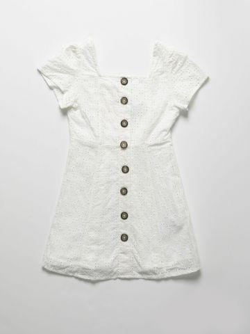 שמלת מיני רקמה עם כפתורים / בנות של AMERICAN EAGLE