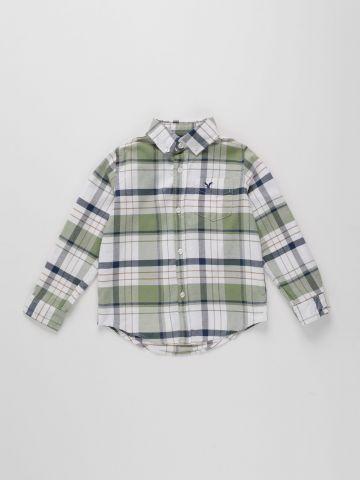חולצה מכופתרת בהדפס משבצות / בנים של AMERICAN EAGLE