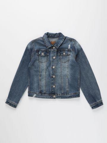 ג'קט ג'ינס עם קרעים / בנות של AMERICAN EAGLE