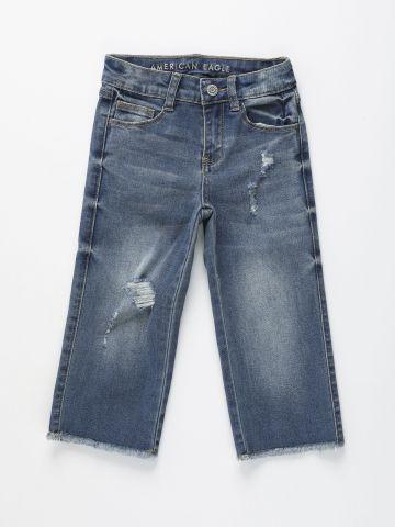 ג'ינס קרופ בגזרה רחבה / בנות של AMERICAN EAGLE