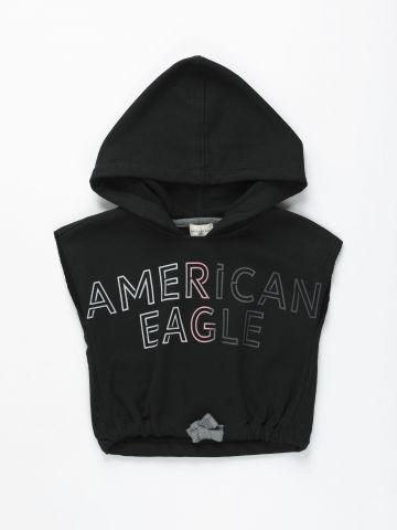 חולצת קרופ עם קפוצ'ון / בנות של AMERICAN EAGLE