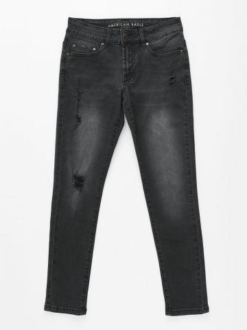 ג'ינס ווש Super Skinny עם קרעים / בנים של AMERICAN EAGLE