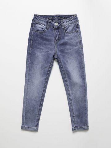 ג'ינס סקיני סטרץ' עם שפשופים / בנות של AMERICAN EAGLE