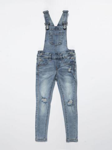 אוברול ג'ינס ארוך עם קרעים / בנות של AMERICAN EAGLE