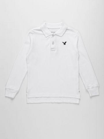 חולצת פול עם רקמת לוגו / בנים של AMERICAN EAGLE