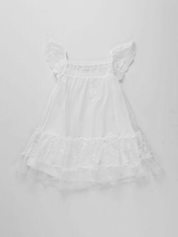 שמלת פפלום בשילוב תחרה / בנות של AMERICAN EAGLE