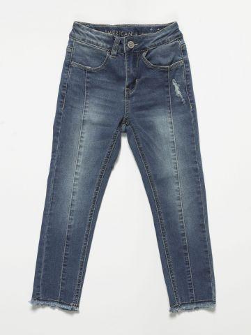 ג'ינס Mom עם תפרים דקורטיבים / בנות של AMERICAN EAGLE