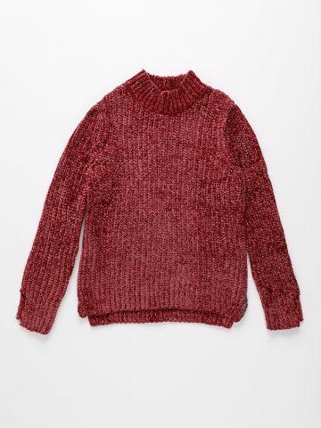 סוודר שניל עם צווארון גבוה / בנות של AMERICAN EAGLE