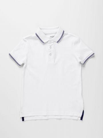 חולצת פולו עם שוליים מודגשים / בנים של FOX