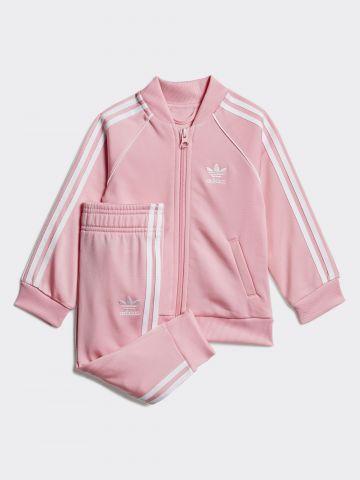 סט סווטשירט ומכנסיים ארוכים עם לוגו / 3M-4Y של ADIDAS Originals