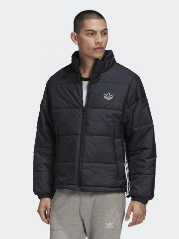 מעיל קווילט עם פאץ' לוגו של ADIDAS Originals