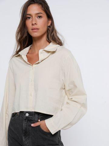 חולצת קרופ מכופתרת של TERMINAL X