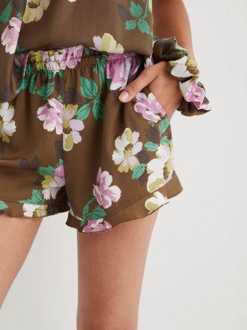 מכנסיים קצרים בהדפס פרחים של AERIE