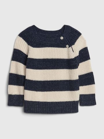 סוודר פסים עם כפתורים / 0-24M של GAP