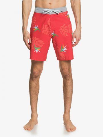 מכנסי בגד ים בהדפס עלים של QUIKSILVER