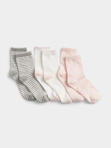 מארז 3 זוגות גרביים גבוהים / בנות של GAP