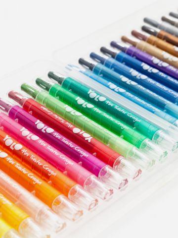 מארז 24 צבעים מסתובבים של YOLO