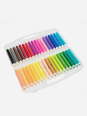 מארז 36 טושים צבעוניים של YOLO