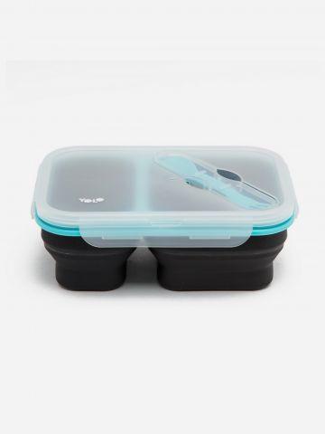 קופסת אוכל סיליקון 2 תאים של YOLO