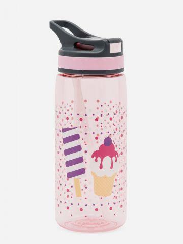בקבוק שתייה בהדפס גלידה של YOLO