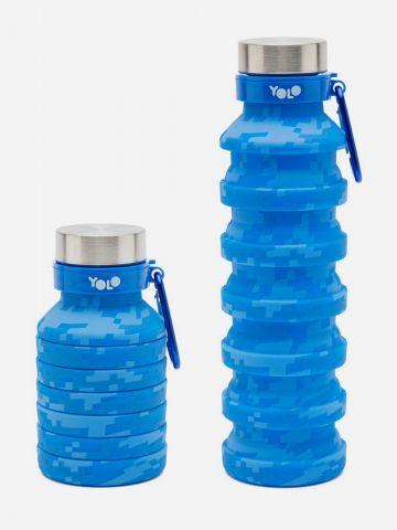 בקבוק שתייה מתכווץ קמופלאז' של YOLO