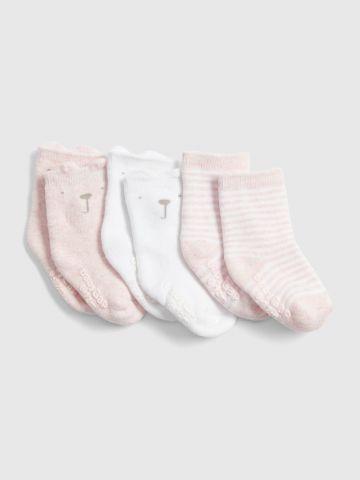 מארז 3 זוגות גרביים דובי / בייבי בנות של GAP