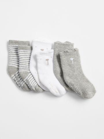 מארז 3 זוגות גרביים דובי / בייבי בנים של GAP