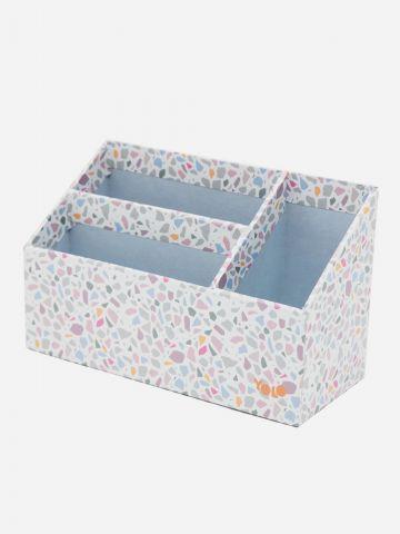 קופסת אחסון בהדפס פסיפס של YOLO