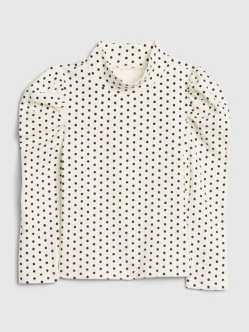חולצה בהדפס נקודות עם צווארון גבוה / 12M-5Y של GAP