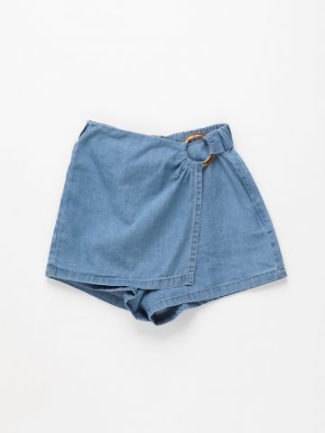 מכנסי חצאית ג'ינס בסגנון מעטפת / בנות של FOX