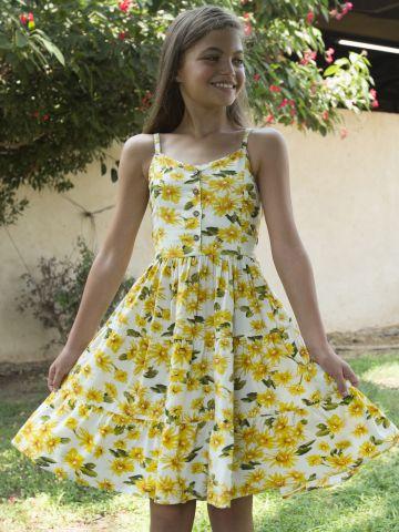 שמלת קומות בהדפס פרחים / בנות של FOX