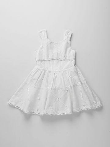 שמלה בעיטור רקמת פרחים / בנות של FOX