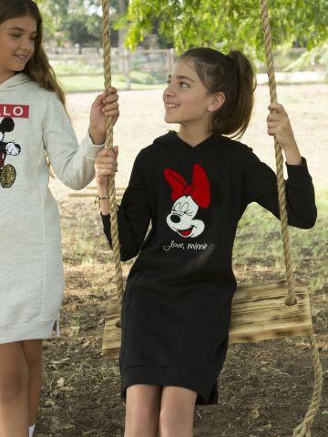 שמלת סווטשירט קפוצ'ון מיני מאוס / בנות של FOX