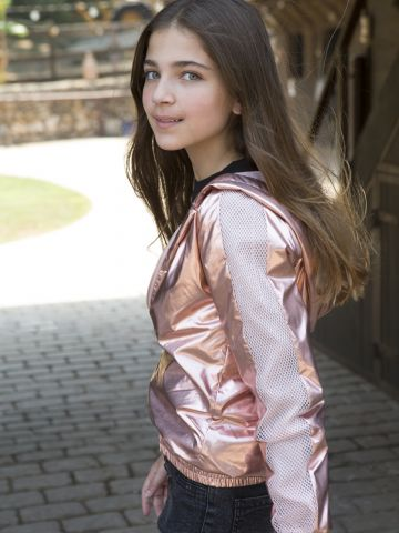 מעיל ניילון מטאלי בסיומת גומי / בנות של FOX