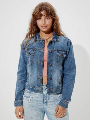 ג'קט ג'ינס עם כיסים של AMERICAN EAGLE