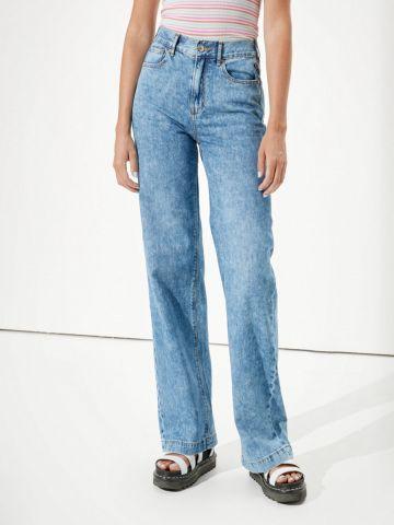 ג'ינס ווש ארוך בגזרה מתרחבת של AMERICAN EAGLE