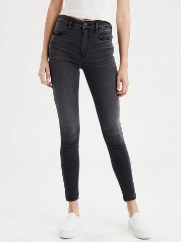 ג'ינס סקיני ארוך בגזרת קרופ של AMERICAN EAGLE