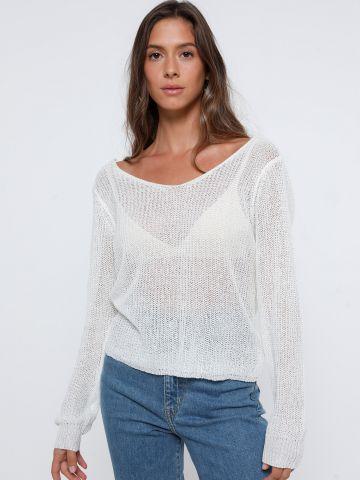 חולצת סריג עם גב פתוח של TERMINAL X