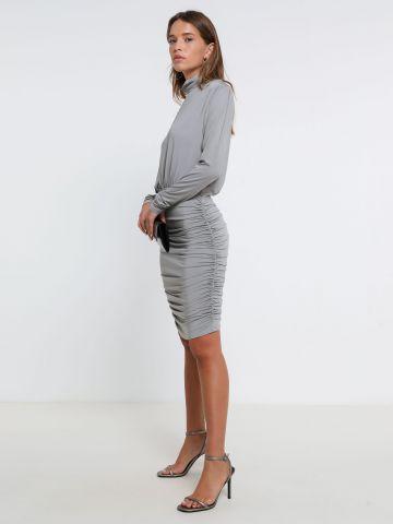 שמלת לייקרה גולף עם כיווצים של TERMINAL X