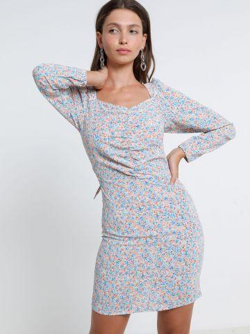 שמלת מיני בהדפס פרחים של TERMINAL X