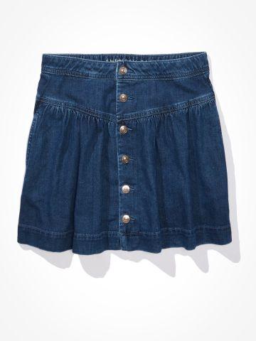 חצאית מיני ג'ינס עם כפתורים / נשים של AMERICAN EAGLE