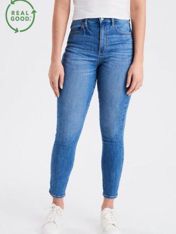 ג'ינס סקיני בגזרה גבוהה Curvy Super Hi-Rise של AMERICAN EAGLE