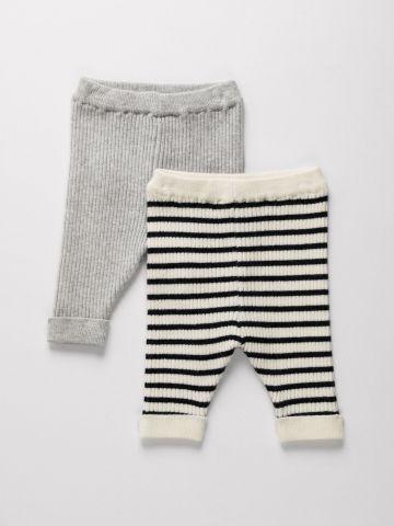 מארז 2 מכנסיים סרוגים / 0M-4Y של TERMINAL X KIDS