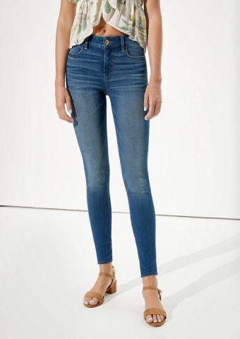 ג'ינס סקיני סטרץ' עם הלבנה Jegging של AMERICAN EAGLE
