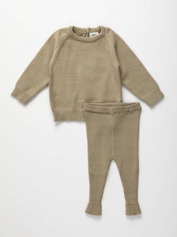 סט מכנסי סריג וסוודר / 6M-5Y של TERMINAL X KIDS