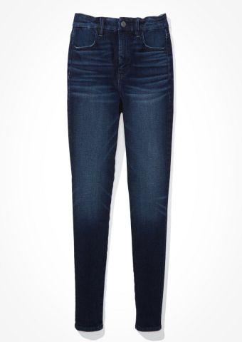 ג'ינס סקיני Curvy בשטיפה כהה Super Hi-Rise Jegging / נשים של AMERICAN EAGLE
