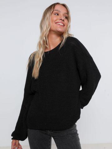 סוודר אוברסייז עם פתח בגב של AMERICAN EAGLE