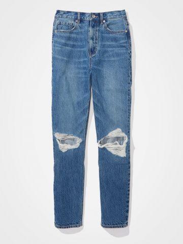 ג'ינס בגזרה גבוהה Mom עם קרעים / נשים של AMERICAN EAGLE